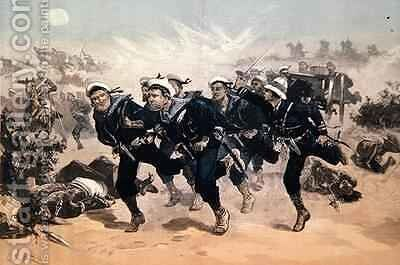 Blue Jackets to the Front, from The Illustrated London News, 29th March 1884 by (after) Overend, William Heysham - Reproduction Oil Painting