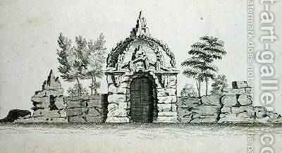 A Grotto, from Ornamental Architecture in the Gothic, Chinese and Modern Taste, published 1758 by Charles Over - Reproduction Oil Painting