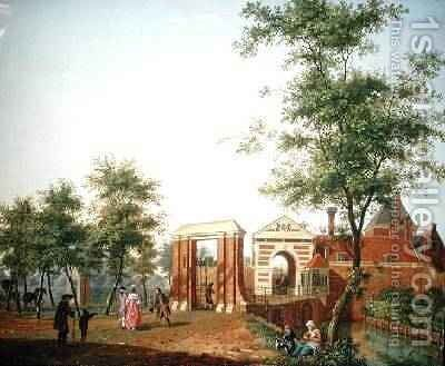 View of the Zylpoort, Harlem, 1780 by Isaak Ouwater - Reproduction Oil Painting