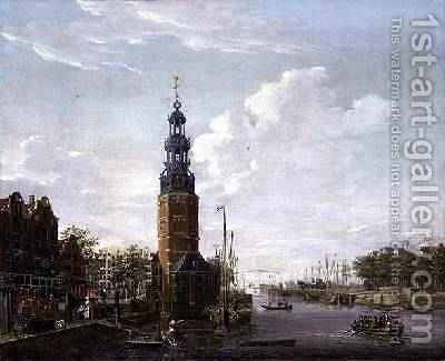 View of Amsterdam with the Montelbaanstower on the Oude Schans, 1777 by Isaak Ouwater - Reproduction Oil Painting
