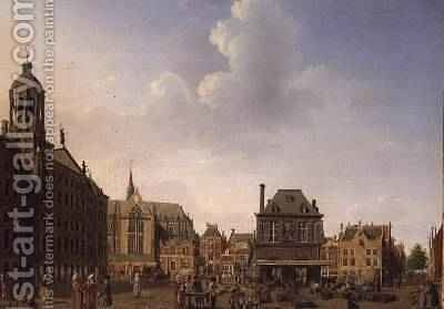 Dam Square - Amsterdam, 1782 by Isaak Ouwater - Reproduction Oil Painting