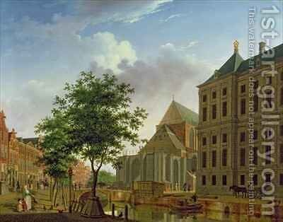 Back of New Palace and Church, Amsterdam by Isaak Ouwater - Reproduction Oil Painting