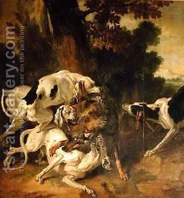Wolf Hunt by Jean-Baptiste Oudry - Reproduction Oil Painting