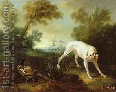 Blanche, Bitch of the Royal Hunting Pack by Jean-Baptiste Oudry - Reproduction Oil Painting