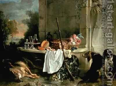 The Dead Wolf, 1721 by Jean-Baptiste Oudry - Reproduction Oil Painting
