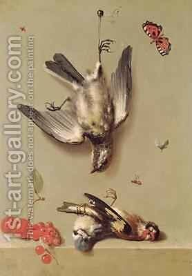Still Life of Dead Birds and Cherries, 1712 by Jean-Baptiste Oudry - Reproduction Oil Painting