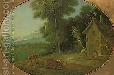 Spring Landscape, 1749 by Jean-Baptiste Oudry - Reproduction Oil Painting