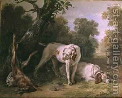 Dog and Hare by Jean-Baptiste Oudry - Reproduction Oil Painting