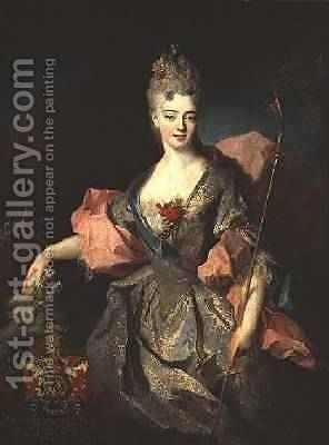 Lady Mary Josephine Drummond, Countess of Castelblanco, c.1716 by Jean-Baptiste Oudry - Reproduction Oil Painting