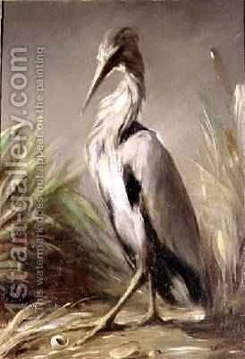 A Heron by Jean-Baptiste Oudry - Reproduction Oil Painting