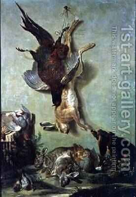 Still Life of Game, 1752 by Jacques Charles Oudry - Reproduction Oil Painting