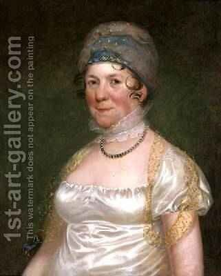 Dolley Madison, c.1817 by Bass Otis - Reproduction Oil Painting