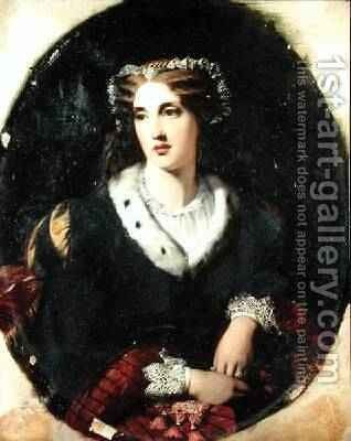 Portrait of a Lady, said to be Lady Bessborough d.1911 by (attr.to) Ossani, Alessandro - Reproduction Oil Painting