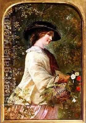 The Flower Seller by Emily Mary Osborn - Reproduction Oil Painting