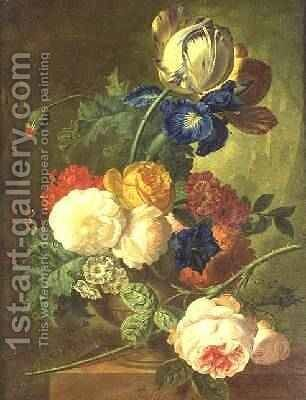 Still Life of Flowers by Jan van Os - Reproduction Oil Painting