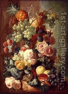 Still Life with Fruit and Flowers by Jan van Os - Reproduction Oil Painting