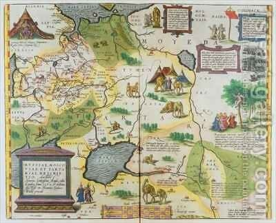 Map of the Russian Empire, 1588 by Abraham Ortelius - Reproduction Oil Painting