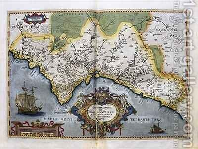 Map of the Kingdom of Valencia, from the Teatro de la Tierra Universel, 1588 by Abraham Ortelius - Reproduction Oil Painting