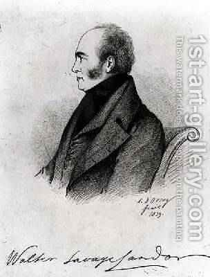 Walter Savage Landor 1775-1864 by Alfred d' Orsay - Reproduction Oil Painting