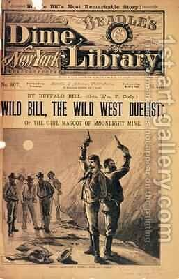 Wild Bill, the Wild West Duelist, illustration for the memoirs of Buffalo Bill, pub. by Beadles Dime Library, 1894 by N. Orr - Reproduction Oil Painting