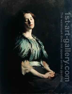 Portrait of a Girl Wearing a Green Dress, 1899 by Sir William Newenham Montague Orpen - Reproduction Oil Painting