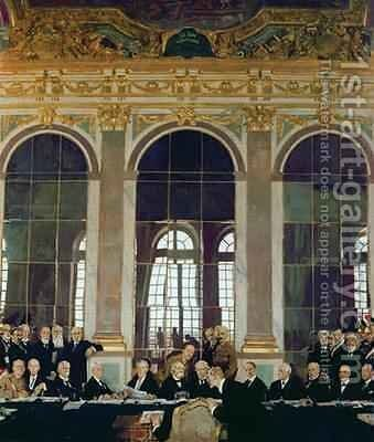 The Treaty of Versailles, 1919 by Sir William Newenham Montague Orpen - Reproduction Oil Painting