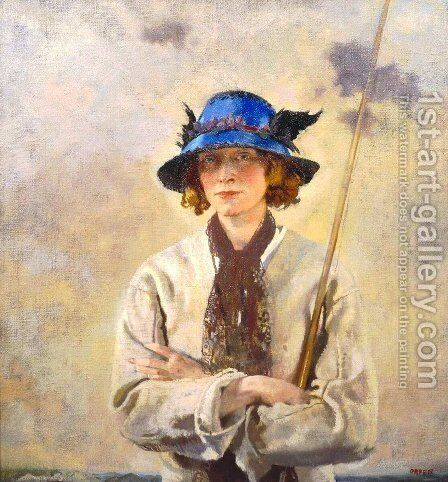 The Angler by Sir William Newenham Montague Orpen - Reproduction Oil Painting