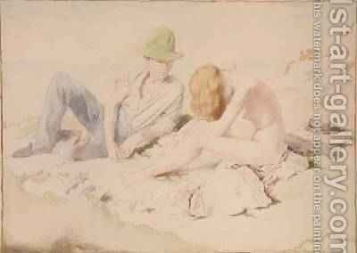 The Draughtsman and His Model by Sir William Newenham Montague Orpen - Reproduction Oil Painting