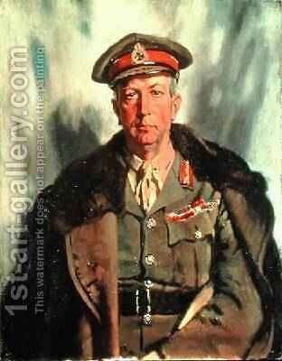 Lieutenant-General Sir A.W. Currie 1875-1933 c.1918 by Sir William Newenham Montague Orpen - Reproduction Oil Painting