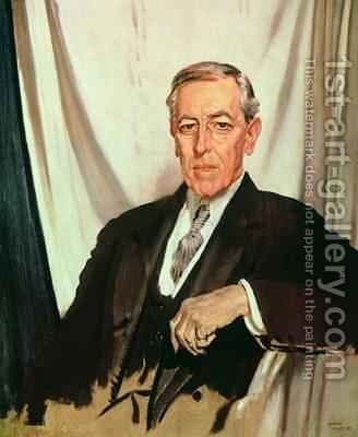 Portrait of Woodrow Wilson 1856-1924 c.1919 by Sir William Newenham Montague Orpen - Reproduction Oil Painting