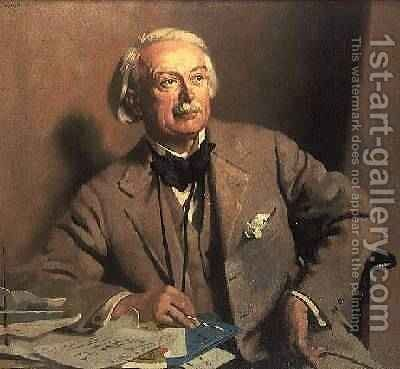 Portrait of the Rt. Hon. David LLoyd George by Sir William Newenham Montague Orpen - Reproduction Oil Painting