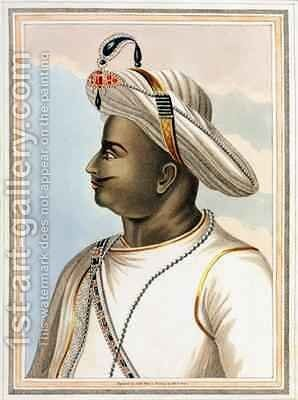 Tippoo Sultan 1749-99 plate from Picturesque Scenery in the Kingdom of Mysore 1805 by (after) Orme, Edward - Reproduction Oil Painting