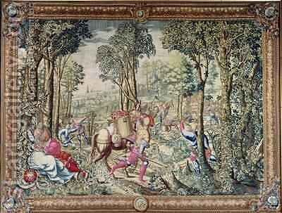The Hunts of Maximilian Gemini The Stag Hunt the Assembly by (after) Orley, Bernard van - Reproduction Oil Painting