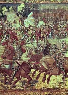 The Battle of Pavia 24 February 1525 by (after) Orley, Bernard van - Reproduction Oil Painting