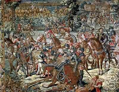 The Battle of Pavia The Capture of Francois I 1494 1547 24th February 1525 by (after) Orley, Bernard van - Reproduction Oil Painting