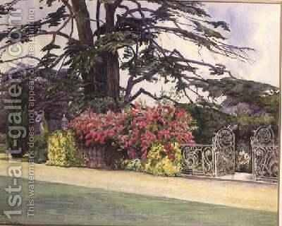 The Rose Garden at Hayes Place Kent by Alice Orde - Reproduction Oil Painting
