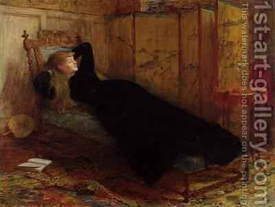 Dolce Far Niente 1872 by Sir William Quiller-Orchardson - Reproduction Oil Painting