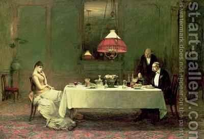 The Marriage of Convenience 1883 by Sir William Quiller-Orchardson - Reproduction Oil Painting