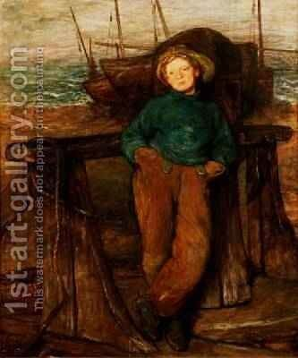 A Fisher Boy by Sir William Quiller-Orchardson - Reproduction Oil Painting