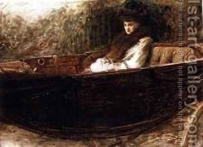 Lady in a Landau by Sir William Quiller-Orchardson - Reproduction Oil Painting