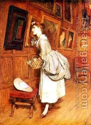 In the Picture Gallery by Sir William Quiller-Orchardson - Reproduction Oil Painting