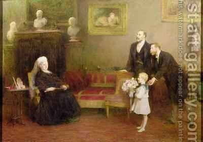The Four Generations Windsor Castle 1899 by Sir William Quiller-Orchardson - Reproduction Oil Painting