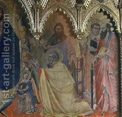 The Strozzi Altarpiece 1357 by Andrea Orcagna - Reproduction Oil Painting
