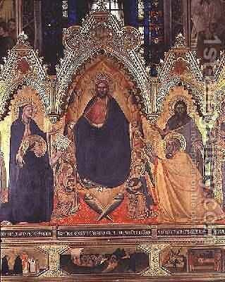 The Strozzi Altarpiece 1357 3 by Andrea Orcagna - Reproduction Oil Painting