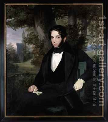 Marriage portrait of Lionel Nathan Rothschild 1836 by Moritz Daniel Oppenheim - Reproduction Oil Painting