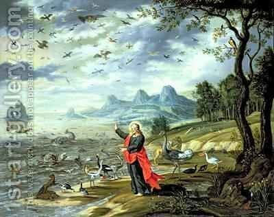 The Creation of the Birds and Fishes by Isaak van Oosten - Reproduction Oil Painting