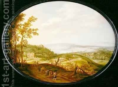 An Extensive Landscape by Isaak van Oosten - Reproduction Oil Painting