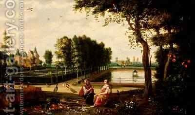 70850mnus and Pomona by Isaak van Oosten - Reproduction Oil Painting