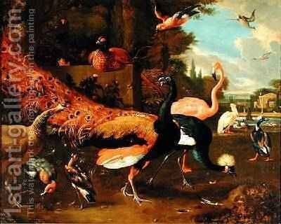 Ornamental Fowl by Adriaen van Oolen - Reproduction Oil Painting