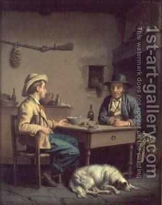 Interior of a Peasants Cottage 1903 by Edouard Amable Onslow - Reproduction Oil Painting